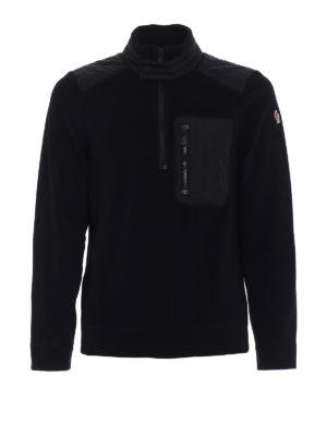Moncler Grenoble: Sweatshirts & Sweaters - Mock neck fleece black sweater