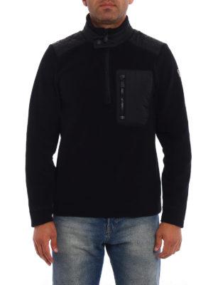 Moncler Grenoble: Sweatshirts & Sweaters online - Mock neck fleece black sweater