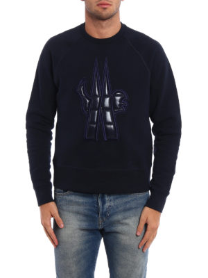 Moncler Grenoble: Sweatshirts & Sweaters online - Quilted nylon logo sweatshirt