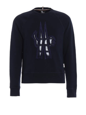 Moncler Grenoble: Sweatshirts & Sweaters - Quilted nylon logo sweatshirt