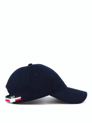 Moncler: hats & caps online - Blue soft cotton baseball cap