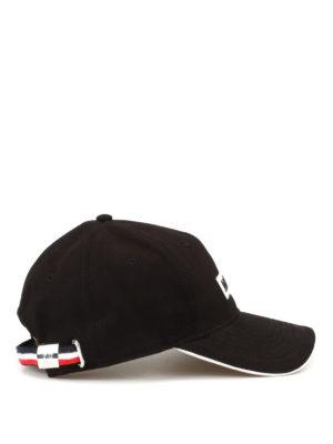 Moncler: hats & caps online - Cotton gabardine baseball cap