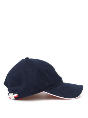 Moncler: hats & caps online - Signature baseball cap