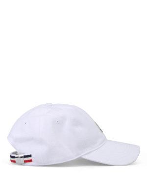 Moncler: hats & caps online - Soft cotton baseball cap