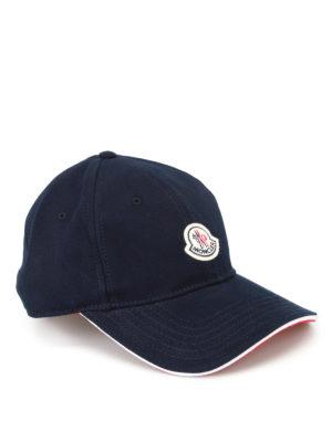 Moncler: hats & caps - Signature baseball cap