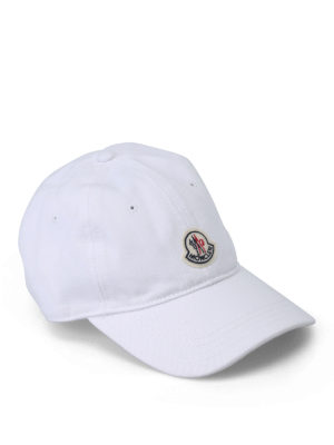Moncler: hats & caps - Soft cotton baseball cap