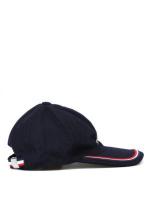 MONCLER: cappelli - Cappellino da baseball in lana con tricolore