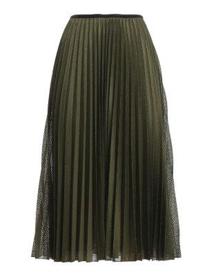 MONCLER: Knee length skirts & Midi - Drilled skirt