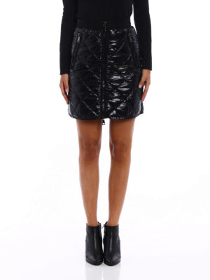 Moncler: mini skirts online - Quilted and padded mini skirt