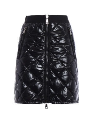Moncler: mini skirts - Quilted and padded mini skirt