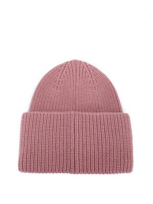 MONCLER: berretti online - Berretto Moncler in lana a coste rosa