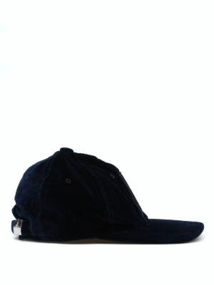 MONCLER: cappelli online - Cappellino da baseball in velluto blu