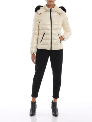 MONCLER: giacche imbottite online - Piumino Badyfur color crema con pelliccia