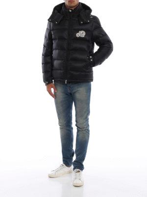 MONCLER: giacche imbottite online - Piumino Bramant nero con cappuccio
