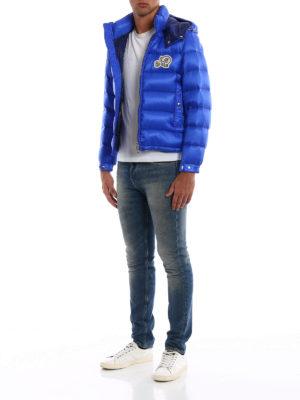 MONCLER: giacche imbottite online - Piumino Bramant blu elettrico