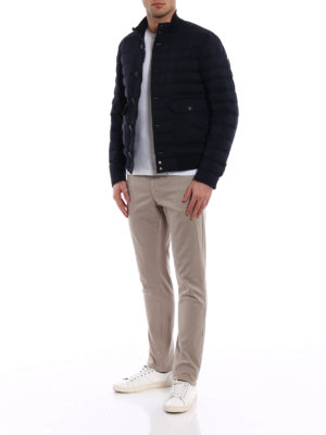 MONCLER: giacche imbottite online - Piumino Chaberton blu