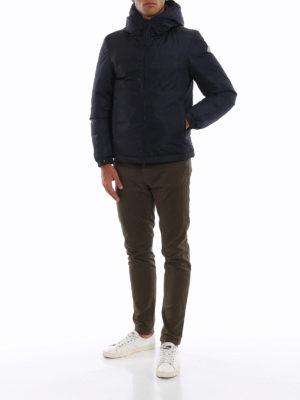 MONCLER: giacche imbottite online - Piumino blu scuro Montvernier con cappuccio
