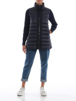 MONCLER: giacche imbottite online - Piumino in nylon con maniche lunghe in lana