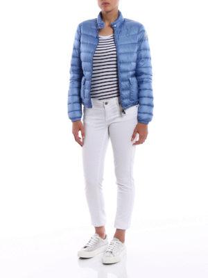 MONCLER: giacche imbottite online - Piumino corto azzurro Lans