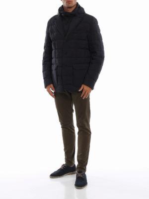 MONCLER: giacche imbottite online - Blazer trapuntato Vernoux con cappuccio fisso