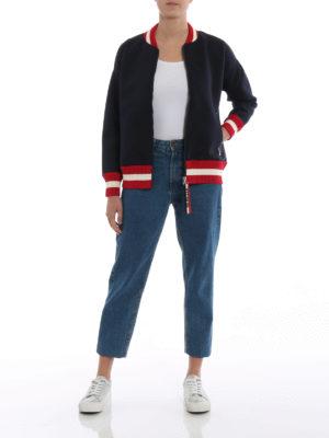 MONCLER: Felpe e maglie online - Felpa modello bomber con zip