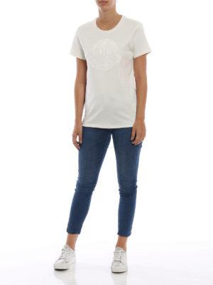 MONCLER: t-shirt online - T-shirt con maxi logo Moncler