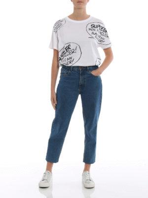 MONCLER: t-shirt online - T-shirt stampa Super Mon Moncler