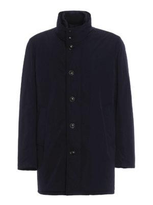 Moncler: padded coats - Fusain padded coat