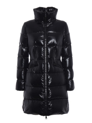 Moncler: padded coats - Jasminum black down coat
