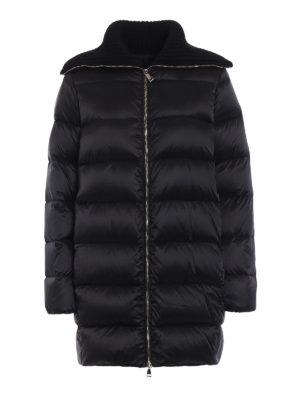 Moncler: padded coats - Laburnum wool collar down coat