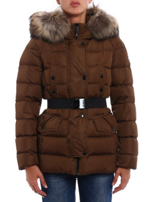 Moncler: padded coats online - Clio fur detailed padded coat