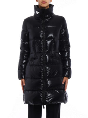 Moncler: padded coats online - Jasminum black down coat