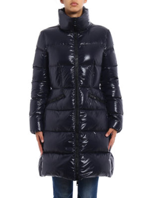 Moncler: padded coats online - Jasminum dark blue down coat