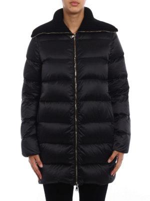 Moncler: padded coats online - Laburnum wool collar down coat
