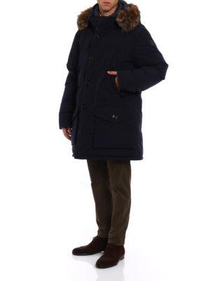 Moncler: padded coats online - River blue padded coat