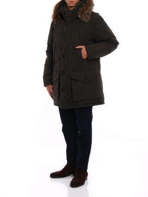 Moncler: padded coats online - River dark green padded coat