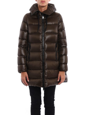 Moncler: padded coats online - Suyen padded hooded coat