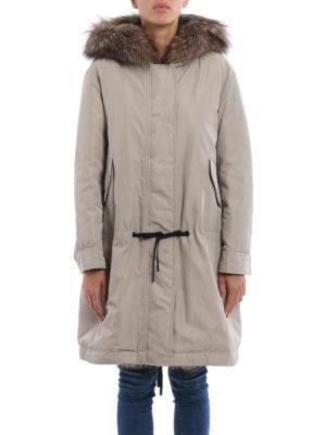 Moncler: padded coats online - Veronika fur trimmed padded parka