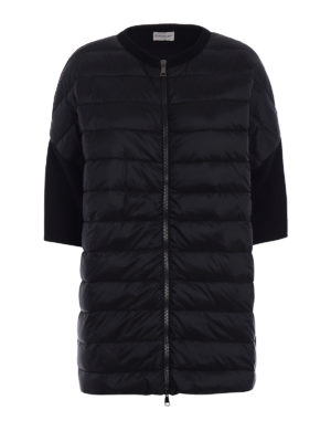 Moncler: padded coats - Padded front wool short coat