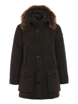 Moncler: padded coats - River dark green padded coat