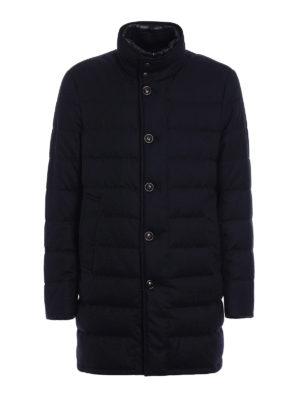 Moncler: padded coats - Vallier dark blue wool padded coat
