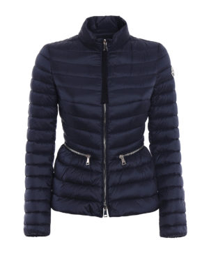 Moncler: padded jackets - Agate fitted blue puffer jacket