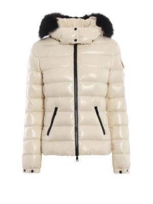 MONCLER: giacche imbottite - Piumino Badyfur color crema con pelliccia