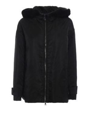 MONCLER: giacche imbottite - Piumino Bondree inserti interni in pelliccia