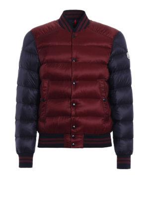 Moncler: padded jackets - Bradford two-tone bomber jacket