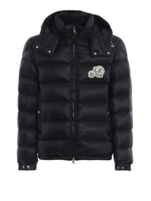 MONCLER: giacche imbottite - Piumino Bramant nero con cappuccio