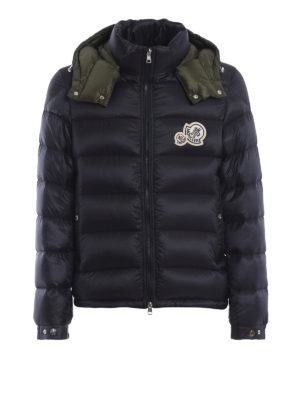 MONCLER: giacche imbottite - Piumino Bramant blu con cappuccio