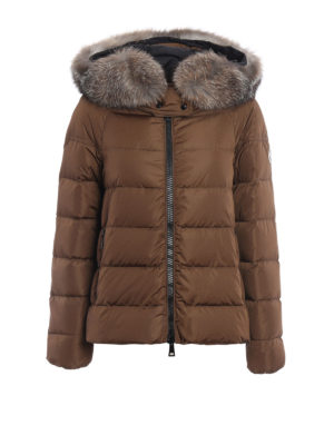 Moncler: padded jackets - Chitalpa fur trimmed down jacket