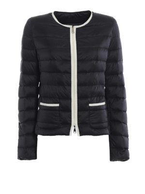 Moncler: padded jackets - Cristal black light down jacket