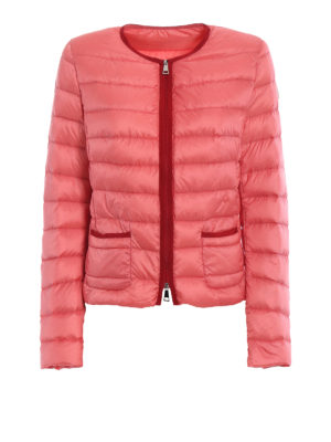 Moncler: padded jackets - Cristal pink light down jacket